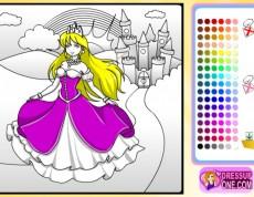 Castle of Princess - Omaľovanka s princeznou