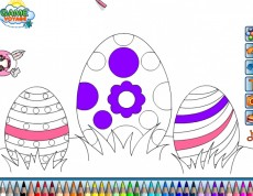 Easter Eggs Coloring - Veľkonočná omaľovanka