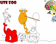 Play Cute Zoo Coloring - Omaľovanka zvieratká