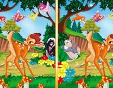 Bambi Adventure - Hľadaj rozdiel s Bambim