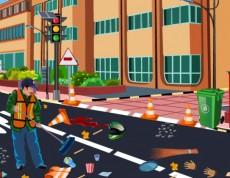Cleaning Road - Uprac ulicu a vytrieď odpad