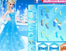 Elsa and Anna Party Dresses - Obliekačka Elsy a Anny