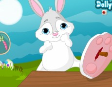 Easter Bunny After Injury - Zajko sa zranil!