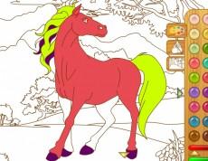 Horse Coloring - Omaľovanka s koníkom