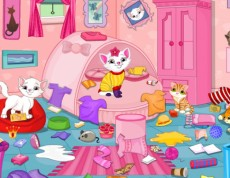 Kitten Messy Room - Uprac izbu mačičke Kitten