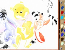 Shy Pooh Online Coloring - Omaľovanka Macko Pú