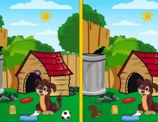 Difference Dog House - Nájdi rozdiely na obrázkoch