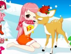 Christmas Girl Loves Reindeer - Vianočná obliekačka