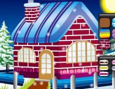 Winter Cottage Decoration - Dekorácia vianočného domčeka