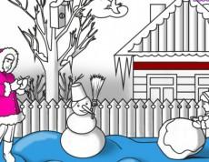 Winter Walk - Vianočná omaľovanka