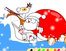 Christmas Coloring - Omaľovanka s Mikulášom