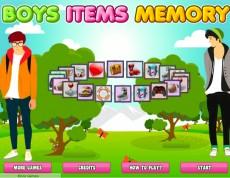 Boys Items Memory - Zahraj si pexeso.