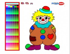 Clown Coloring - Vyfarbi si klauna!