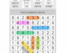 Hidden Numbers - Ukryté čísla