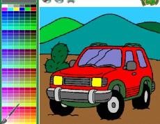SUV 4x4 Coloring - Vyfarbi si auto!