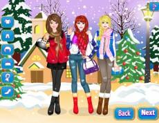 Dress Up Winter Friends - Vyber priateľkám zimné oblečenie!