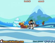 Frozen Elsa Sleight - Anna a Elza jazdia na saniach