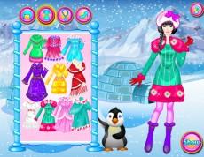 Eskimo Princess Dressup - Oblečenie do mrazivej zimy.