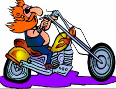 Cartoon Motorcycle Road Driving - Puzzle motorkár