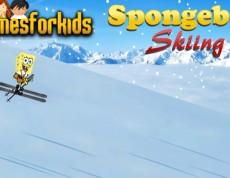 Spongebob Skiing - Spongebob lyžuje