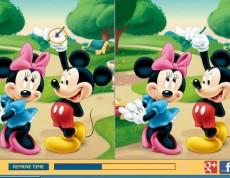 Mickey a Minnie Difference - Nájdi rozdiely na obrázku
