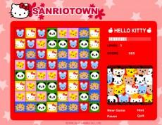 Hello Kitty - Vytvor trojice z obrázkov